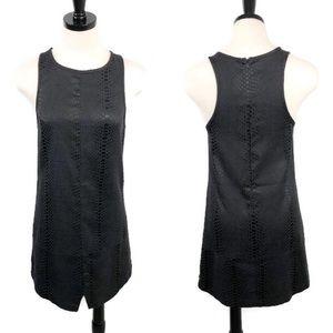 One by One Teaspoon Black Snakeskin Shift Dress